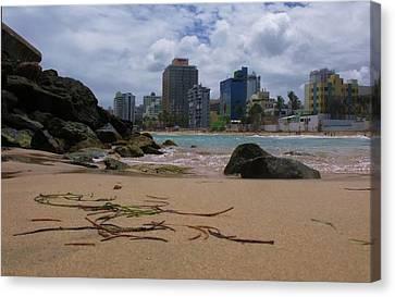 San Juan Beach Iv Canvas Print by Anna Villarreal Garbis