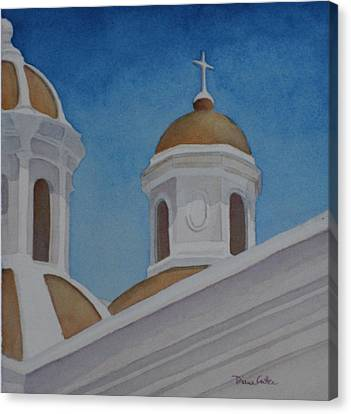 San Juan Cathedral Canvas Print by Diane Cutter