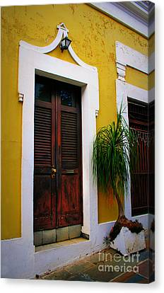 San Juan Doors Canvas Print by Perry Webster
