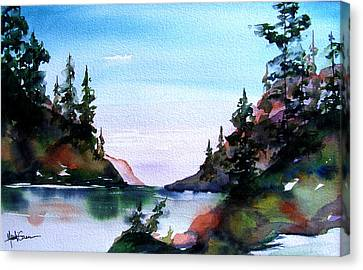 Canvas Print featuring the painting San Juan Island by Marti Green