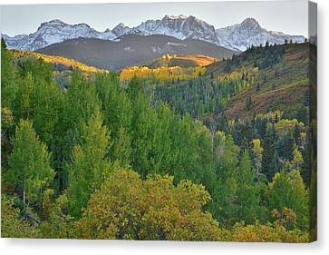 Canvas Print featuring the photograph San Juan Mountain Sunset by Ray Mathis