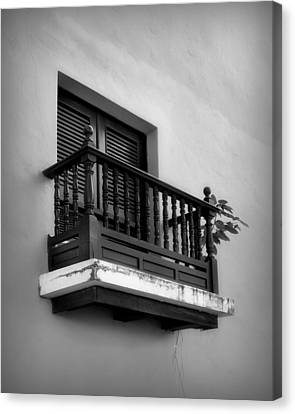 Puerto Rico Canvas Print - San Juan Window 2 by Perry Webster