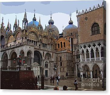 San Marco And The Doge's Palace - Venice Canvas Print by Al Bourassa
