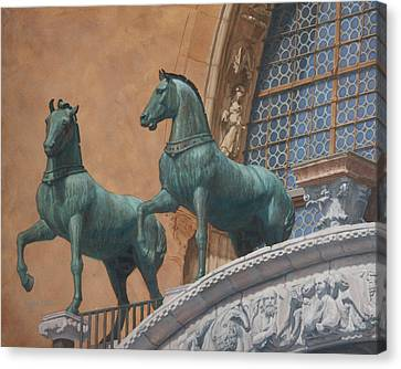 San Marco Horses Canvas Print by Swann Smith