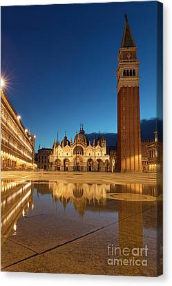 Canvas Print featuring the photograph San Marco Twilight by Brian Jannsen