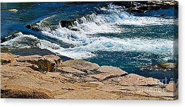San Marcos River Waterfall  Canvas Print