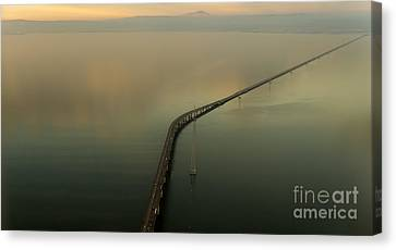 San Mateo Bridge Aerial Photo Canvas Print by David Oppenheimer