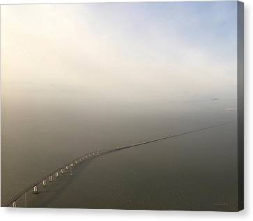 San Mateo Bridge  Canvas Print by Gerry Tetz