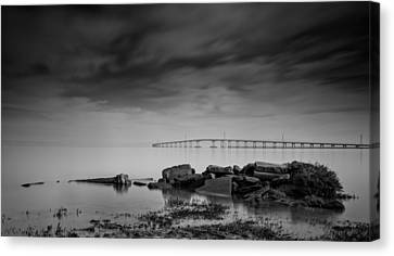 San Mateo Bridge Canvas Print by Kenneth Houk