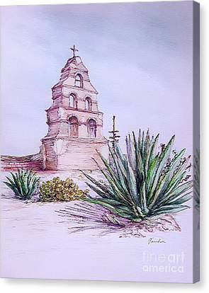 San Miguel Mission, Bell Tower Canvas Print
