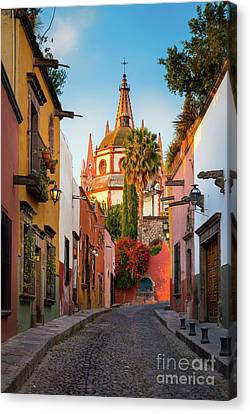 San Miguel Pueblo Magico Canvas Print by Inge Johnsson