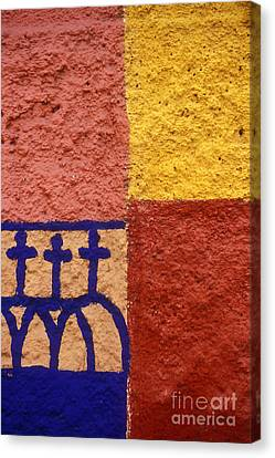 Canvas Print featuring the photograph San Miguel Wall San Miguel De Allende Mexico by John  Mitchell