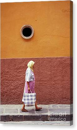 Canvas Print featuring the photograph San Miguel Woman San Miguel De Allende Mexico by John  Mitchell