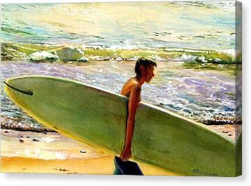 San O Man Canvas Print by Kathy Dueker