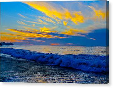 San Pancho Sunset Canvas Print by Atom Crawford