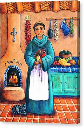 Religious Art Canvas Print - San Pascual In Blue by Candy Mayer