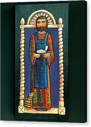 San Pascual Wood Carving Canvas Print