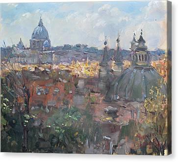 San Pietro Da Pincio Canvas Print by Ylli Haruni