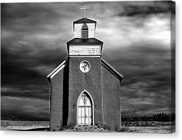 San Rafael Mission Church, La Cueva, New Mexico, Illiminated By  Canvas Print by Mark Goebel