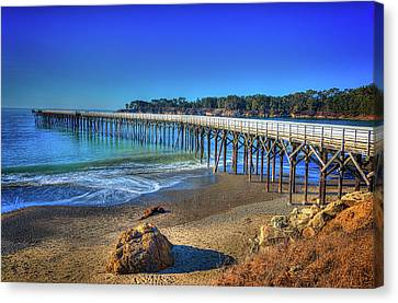 San Simeon Pier California Coast Canvas Print by James Hammond