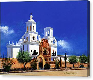 San Xavier Del Bac Mission Canvas Print by M Diane Bonaparte