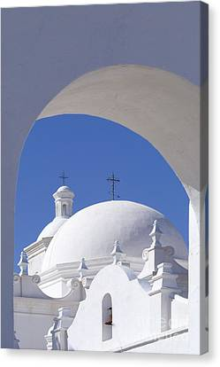 San Xavier Del Bac Canvas Print by Sandra Bronstein