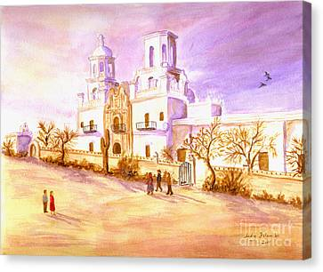 Canvas Print featuring the painting San Xavier by Judy Filarecki