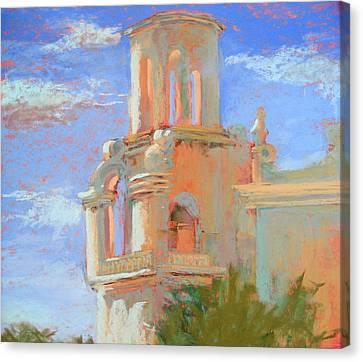 San Xavier Mission Tucson Canvas Print by Sandra Ortega