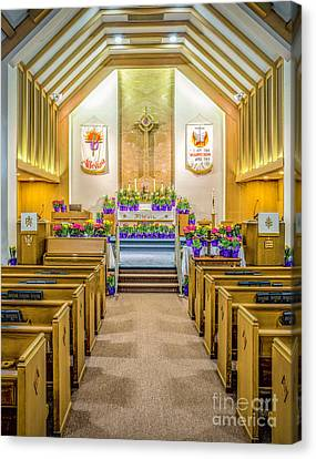 Canvas Print featuring the photograph Sanctuary At Easter by Nick Zelinsky