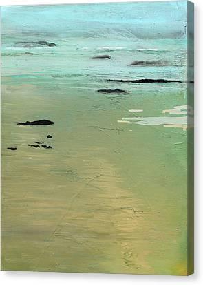 Sand And Sea Canvas Print by Ethel Vrana