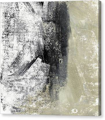 Sand And Steel- Abstract Art Canvas Print by Linda Woods