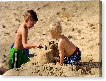 Sand Castle Canvas Print by Lyle  Huisken