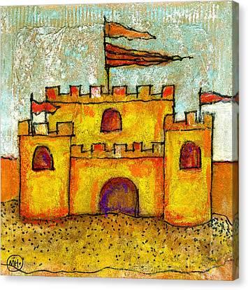 Sand Castle Canvas Print by Mary Hanrahan