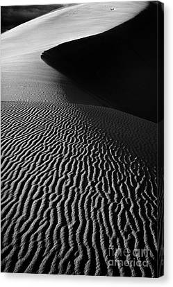 Coral Pink Sand Dunes Canvas Print - Sand Creation - Black And White by Hideaki Sakurai