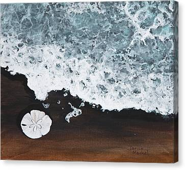 Canvas Print featuring the painting Sand Dollar by Darice Machel McGuire