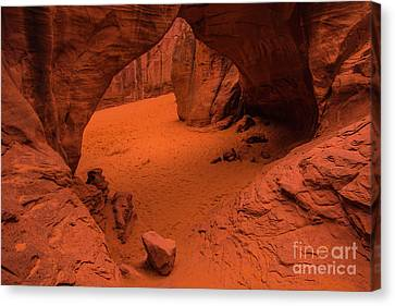 Canvas Print featuring the photograph Sand Dune Arch - Arches National Park - Utah by Gary Whitton