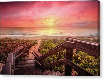 Canvas Print featuring the photograph Sand Dune Morning by Debra and Dave Vanderlaan