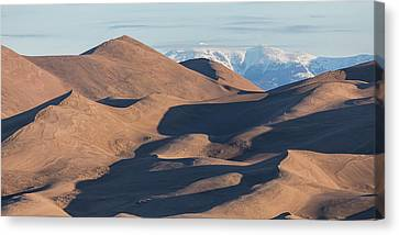 Sand Dunes And Rocky Mountains Panorama Canvas Print by James BO Insogna