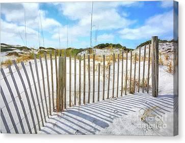 Sand Dunes At Grayton Beach # 2 Canvas Print by Mel Steinhauer