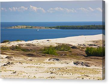 Sand Dunes At The Coast, Parnidis Dune Canvas Print by Panoramic Images