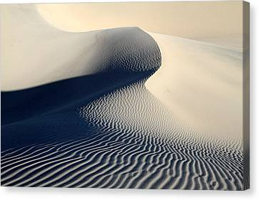 Sand Dunes Patterns In Death Valley Canvas Print by Pierre Leclerc Photography