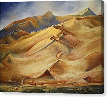 Sand Dunes Canvas Print by Roena King