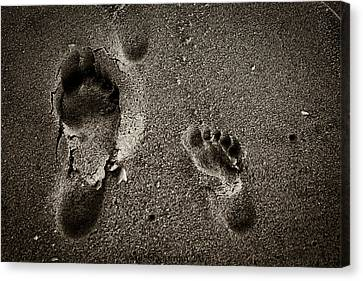 Canvas Print featuring the photograph Sand Feet by Lora Lee Chapman