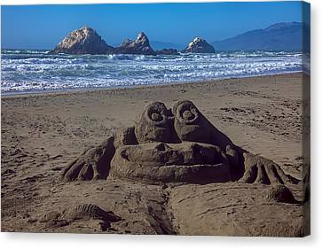 Sand Frog  Canvas Print by Garry Gay
