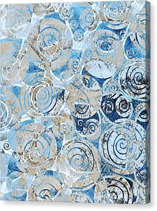 Seashell Art Canvas Print - Sand, Sea And Seashells by Frank Tschakert