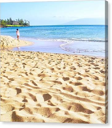 Sand Sea And Shadows Canvas Print