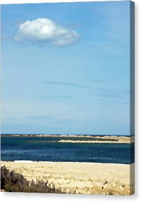 Canvas Print featuring the photograph Sand Sea And Sky by Brooke T Ryan