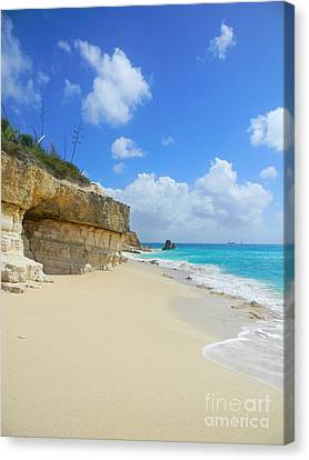 Sand Sea And Sky Canvas Print