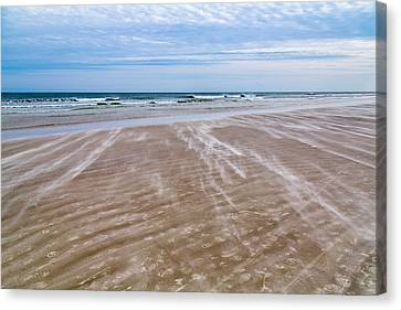 Canvas Print featuring the photograph Sand Swirls On The Beach by John M Bailey