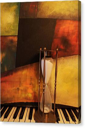 Sand Through The Hourglass Canvas Print by Anne-Elizabeth Whiteway